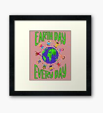 Earth Day Every Day, Save The Planet For Our Children Cute Earthy Hippie #earthday Framed Print