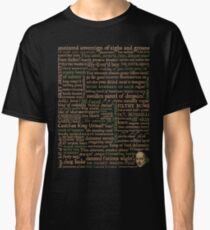 Shakespeare Insults Dark - Revised Edition (by incognita) Classic T-Shirt