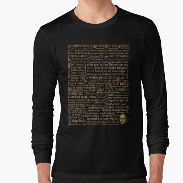 Shakespeare Insults Dark - Revised Edition (by incognita) Long Sleeve T-Shirt