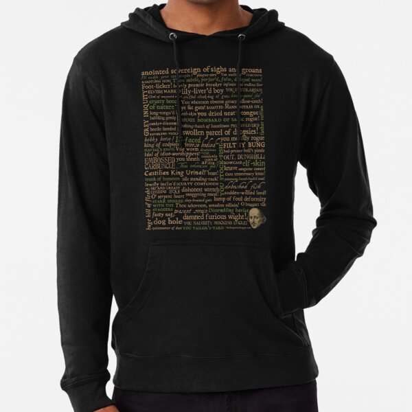 Shakespeare Insults Dark - Revised Edition (by incognita) Lightweight Hoodie