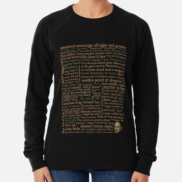 Shakespeare Insults Dark - Revised Edition (by incognita) Lightweight Sweatshirt