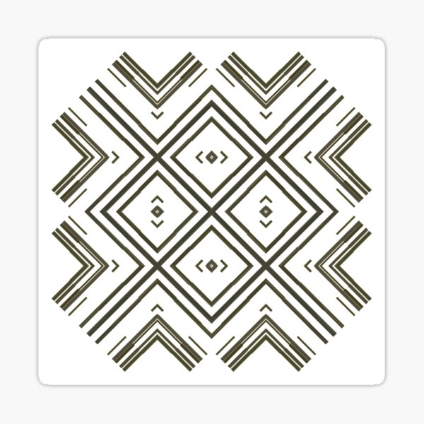 Pattern, tracery, weave, figure, structure, framework, composition, frame, texture Sticker