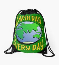 Don't Be Trashy, Save The Earth,  Help End Plastic Pollution. #earthday Drawstring Bag