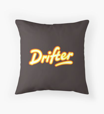 Retro Rowntree's Drifter chocolate bar pack logo Throw Pillow