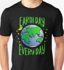 Cute Earth Day Hippie Earth in Space #earthday Unisex T-Shirt