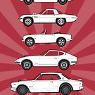 Classic JDM Classic Car Collection Artwork by RJWautographics