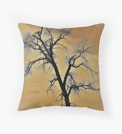 Winter Tree - A Longing For Spring Throw Pillow