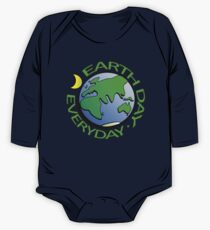 Earth Day Every Day, Save The Planet For Our Children Cute Earthy Hippie #earthday One Piece - Long Sleeve