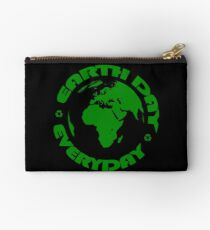 Earth Day Every Day, Save The Planet For Our Children #earthday Studio Pouch