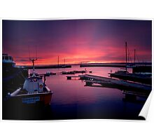Avoch Harbour dawn Poster