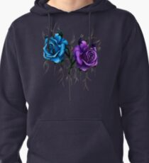 Decaying Tattoo Roses Pullover Hoodie