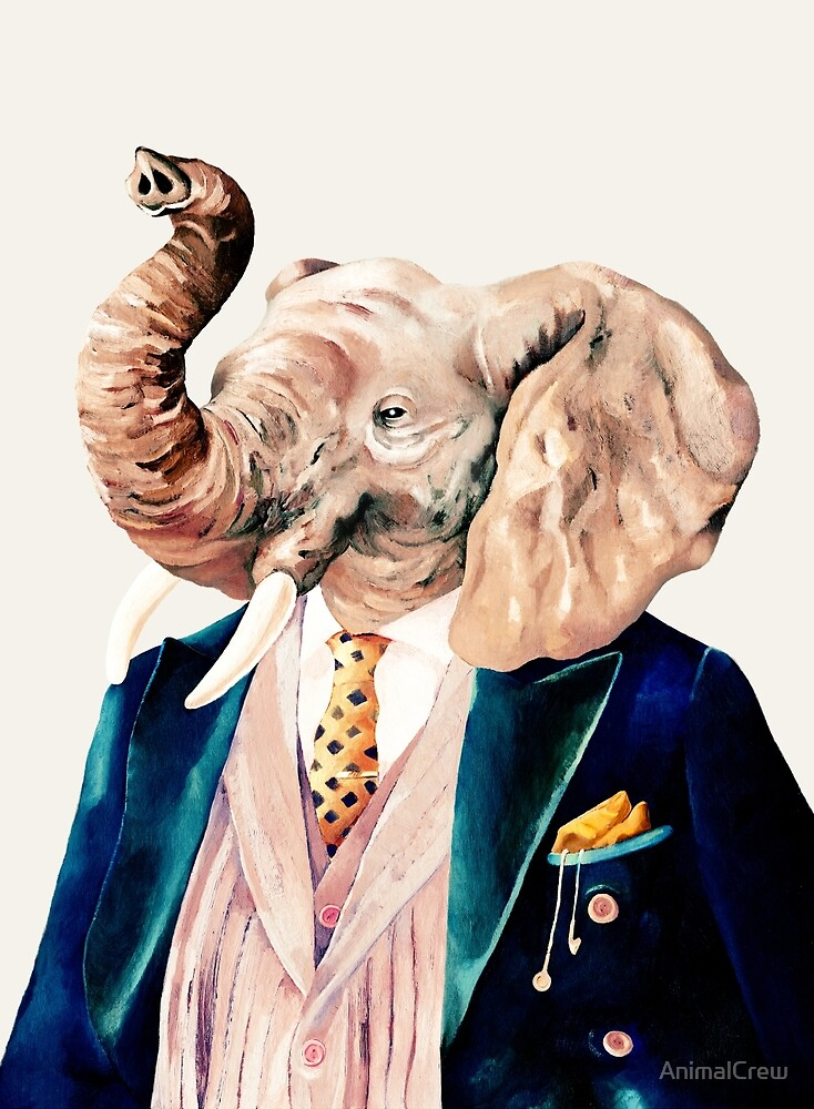 Elephant (cream) by AnimalCrew