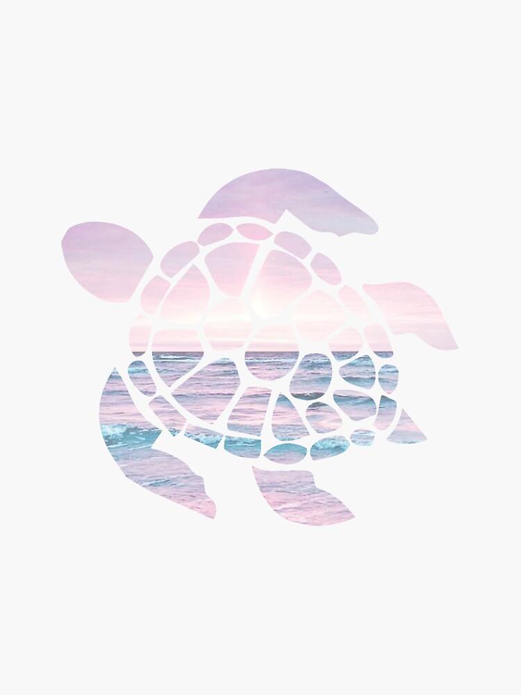 Meeresschildkröte Pink Beach von livpaigedesigns