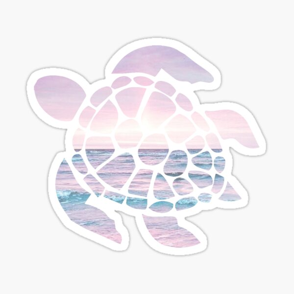 Tortue de mer Pink Beach Sticker