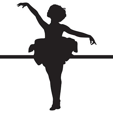 Heartbeat / Pulse - Tiny Dancer / Ballerina Silhouette  by SandpiperDesign