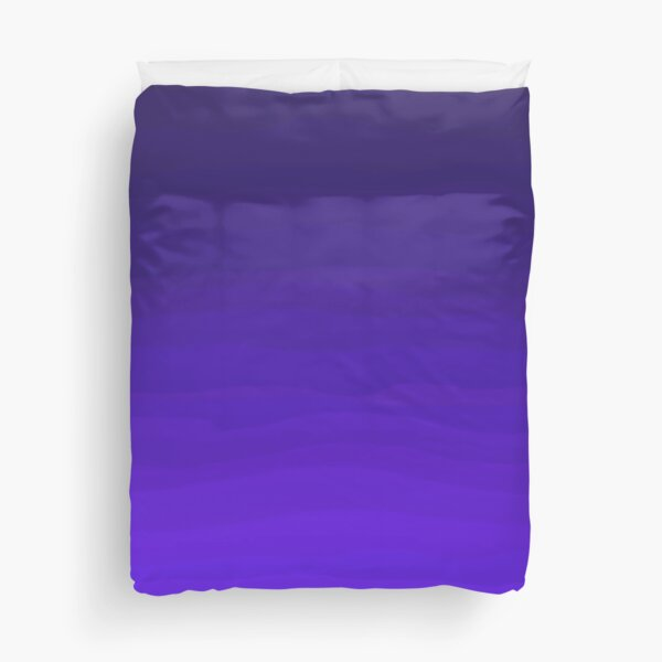 Rich Bright Purple Indigo Blue Ombre Gradient  Duvet Cover