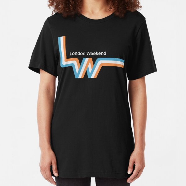 "Retro LWT ""ribbon"" television logo  Slim Fit T-Shirt"