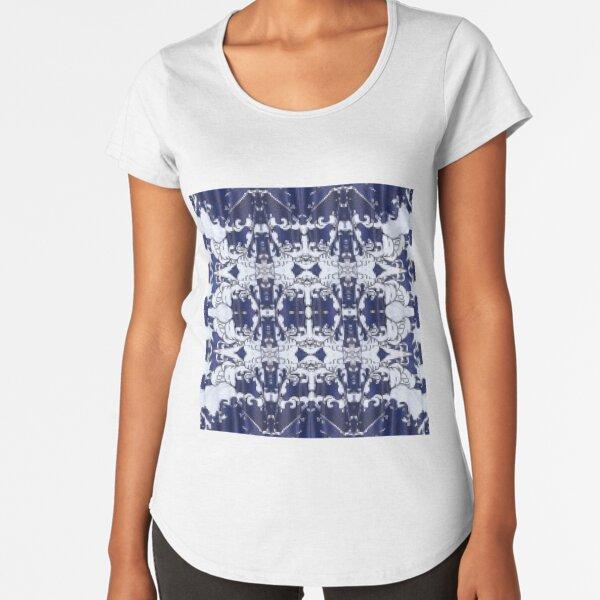 Cobalt blue, Pattern,tracery,weave,figure,structure,framework,composition,frame,texture Premium Scoop T-Shirt