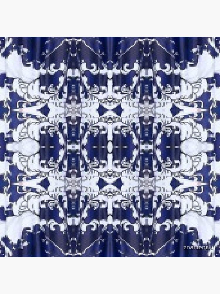 Cobalt blue, Pattern,tracery,weave,figure,structure,framework,composition,frame,texture by znamenski