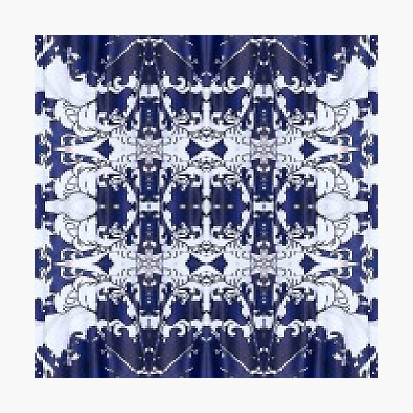 Cobalt blue, Pattern,tracery,weave,figure,structure,framework,composition,frame,texture Photographic Print