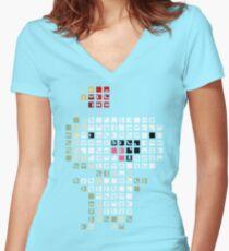 Fez Happy Gomez Tiles Women's Fitted V-Neck T-Shirt
