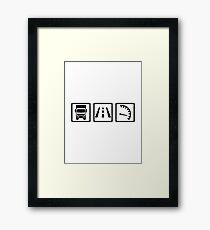 Trucker icons Framed Print