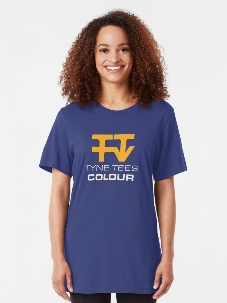 Alternate view of Tyne Tees regional ITV station logo Slim Fit T-Shirt