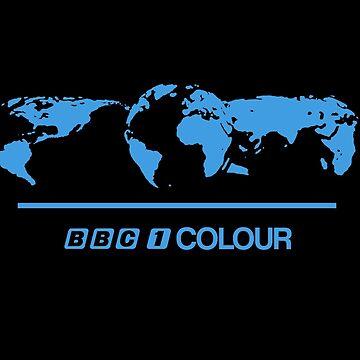 Retro BBC 1 Colour globe graphics by unloveablesteve