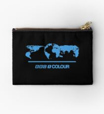 Retro BBC 1 Colour globe graphics Studio Pouch