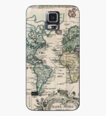 Vintage Map of The World (1753) Case/Skin for Samsung Galaxy