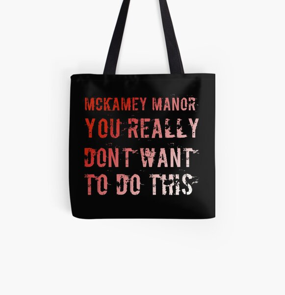 You really don't want to do this - red and white All Over Print Tote Bag