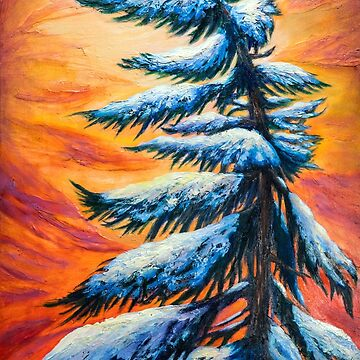 Pine tree Winter portrait by lldd11