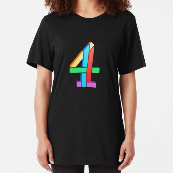 Channel 4 retro logo  Slim Fit T-Shirt