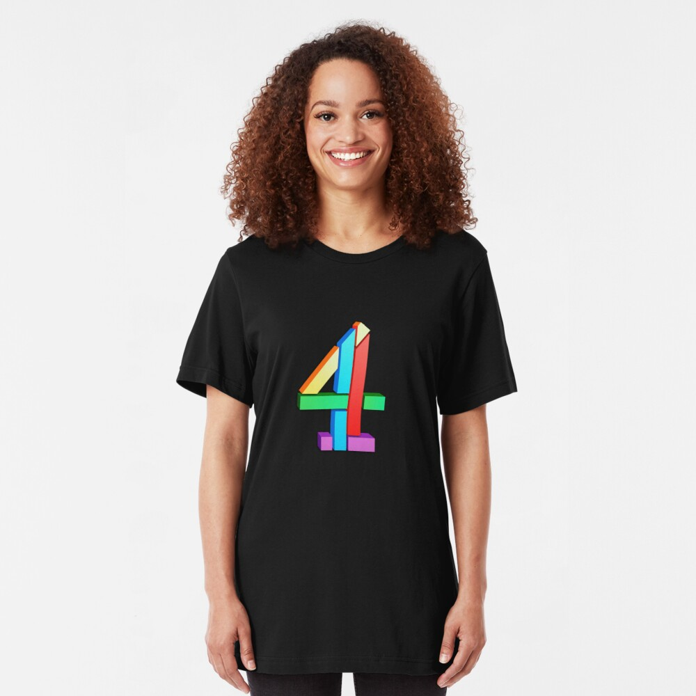 Channel 4 retro logo  Slim Fit T-Shirt