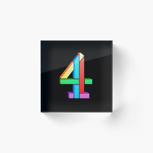 Channel 4 retro logo  Acrylic Block