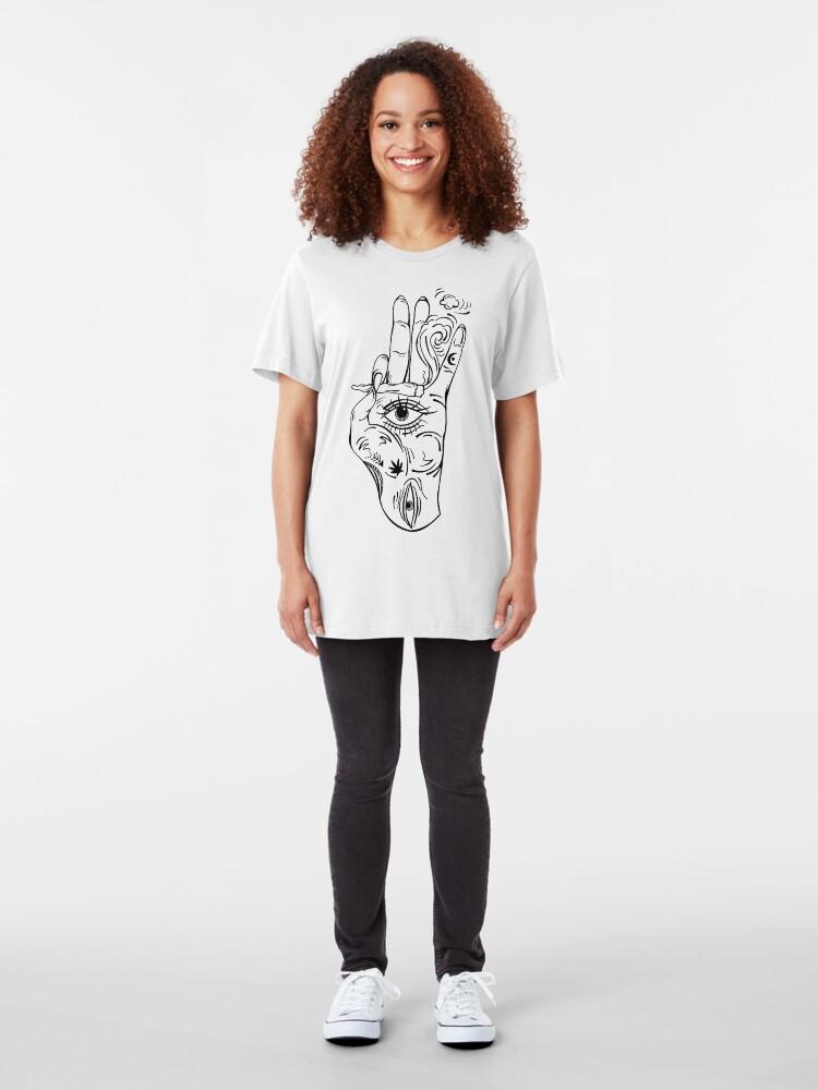 Alternate view of Piercing gaze Slim Fit T-Shirt