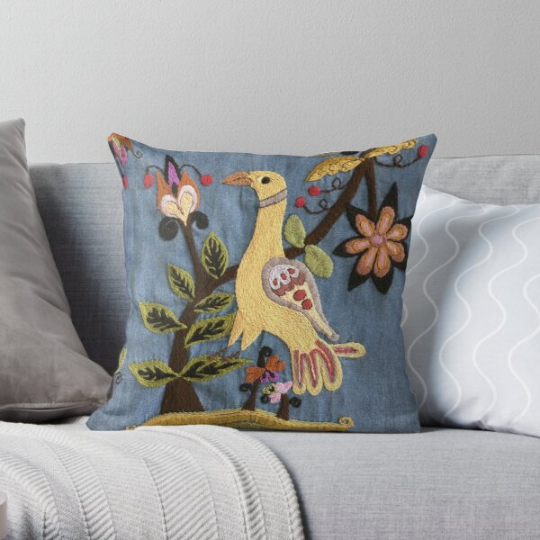 Chill Bird Throw Pillow