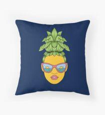 Pineapple Girl Throw Pillow