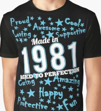 Made In 1981 - Aged To Perfection Graphic T-Shirt