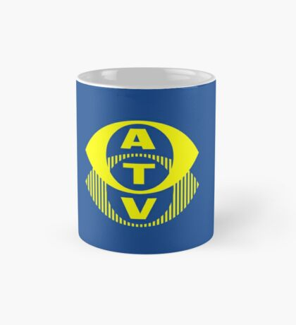 Retro TV ATV in a bright yellow Mug