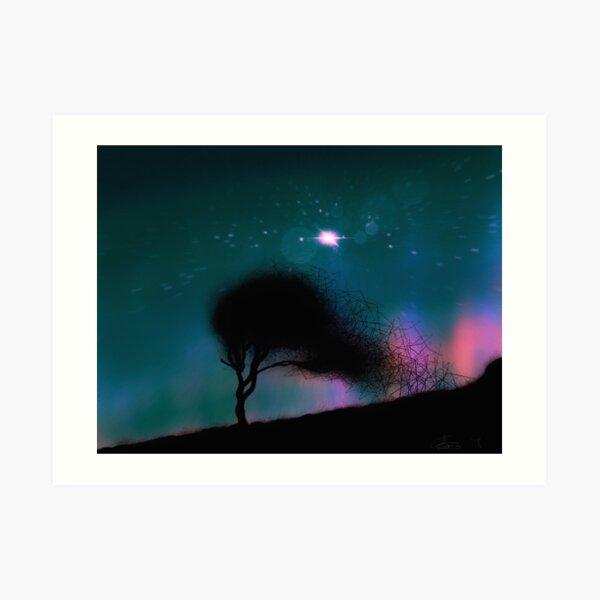 Quantum tree and the big bang Art Print