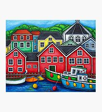 Colours of Lunenburg, Nova Scotia Photographic Print