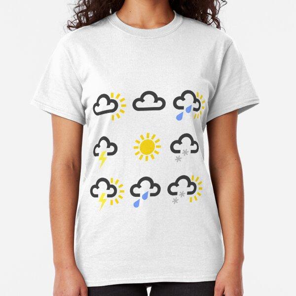 Weather forecast symbols design  Classic T-Shirt
