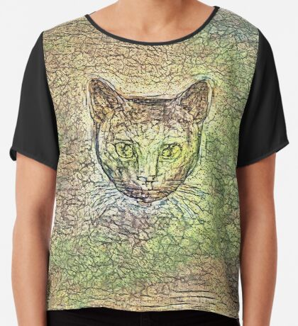 Cat on his way home Chiffon Top