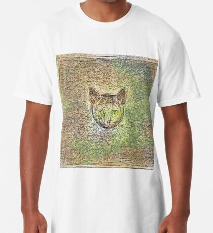 Cat on his way home Long T-Shirt