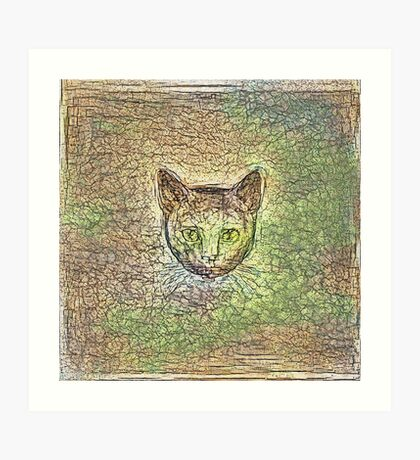 Cat on his way home Art Print