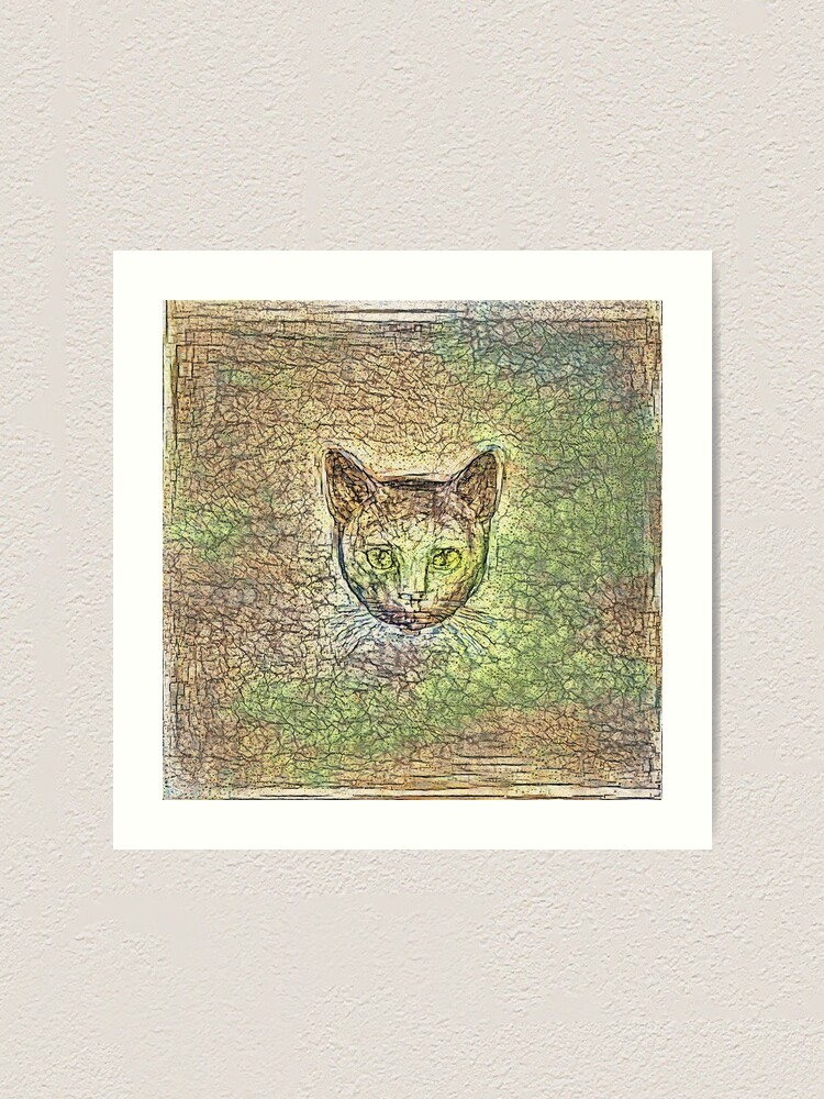 Alternate view of Cat on his way home Art Print