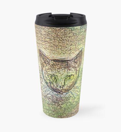 Cat on his way home Travel Mug