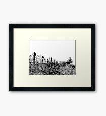 Stonewatchers Black Framed Print