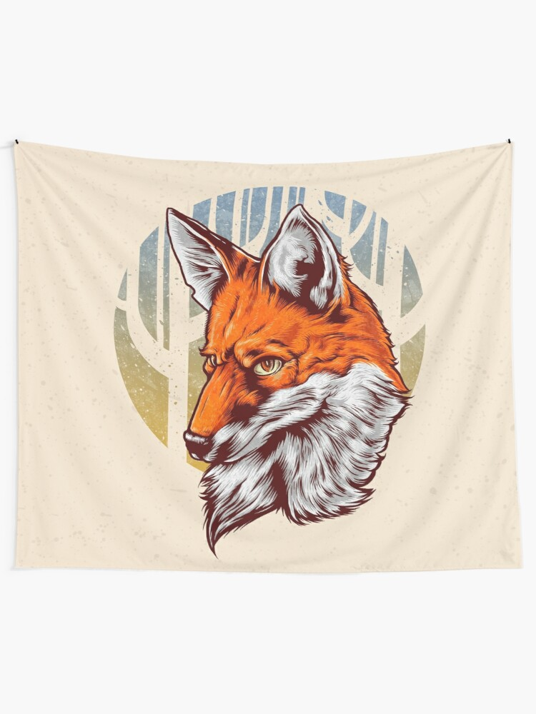 Alternate view of Forest Fox Tapestry